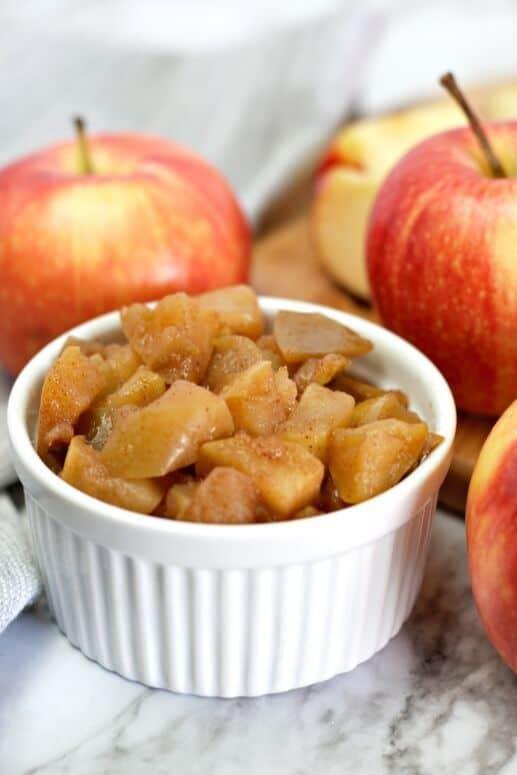 Stovetop cinnamon apples