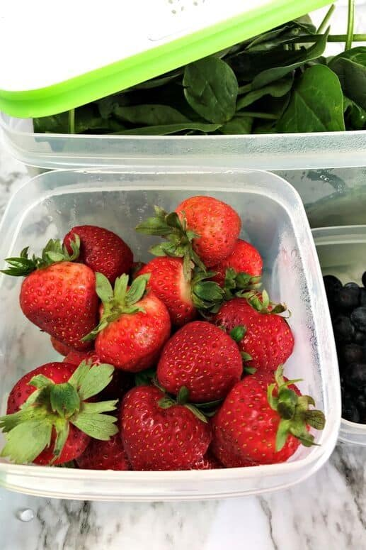 Strawberries in Rubbermaid FreshWorks containers