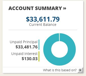 Student loan balance