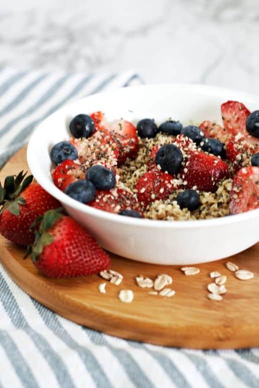 Sweet berry oatmeal 1