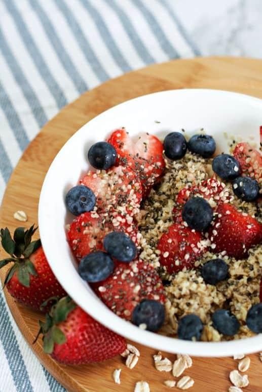 Sweet berry oatmeal 2