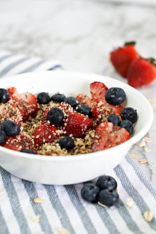 Sweet berry oatmeal 4