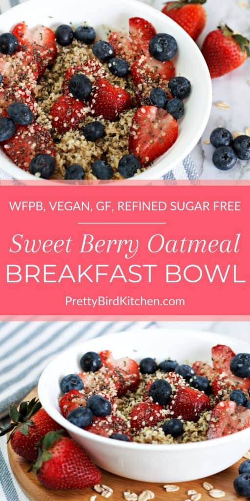 Sweet berry oatmeal breakfast bowl 3
