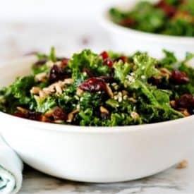 Sweet summer kale salad recipe