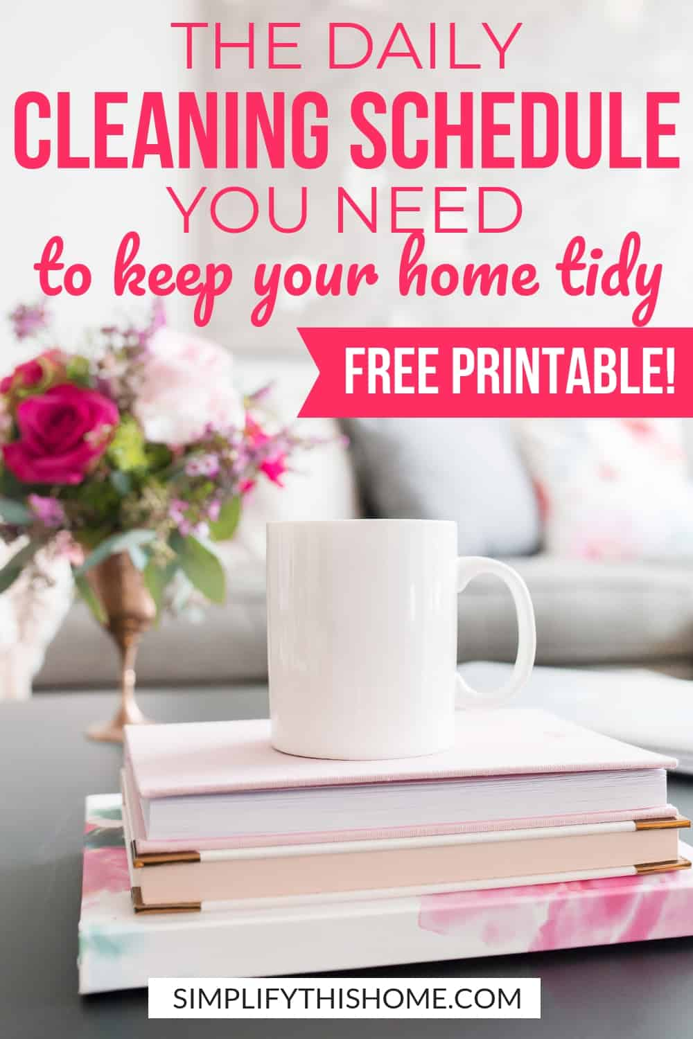 Use this daily cleaning schedule to keep your home tidy every single day!   free printable daily cleaning checklist