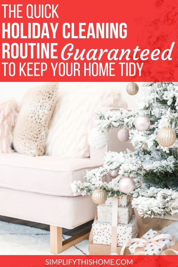 Get your home ready for the holidays with this quick holiday cleaning routine! Plus, you can grab my free printable checklist so you never miss a step!