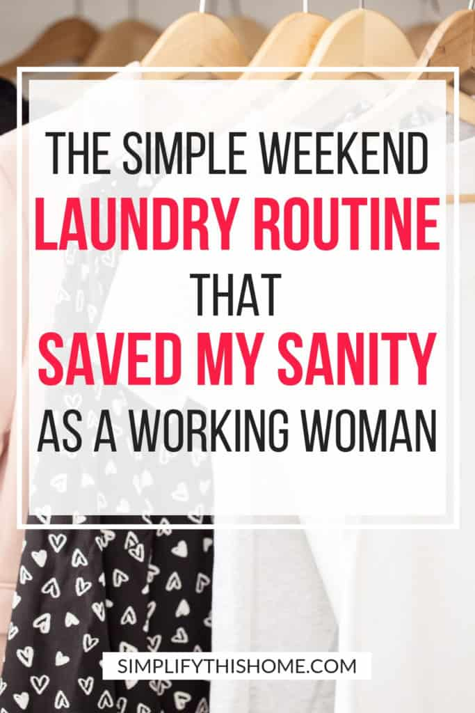 This weekend laundry routine is perfect if you don't have time to worry about laundry during the week! | laundry tips | laundry system | #laundrytips #laundry #cleaningtips