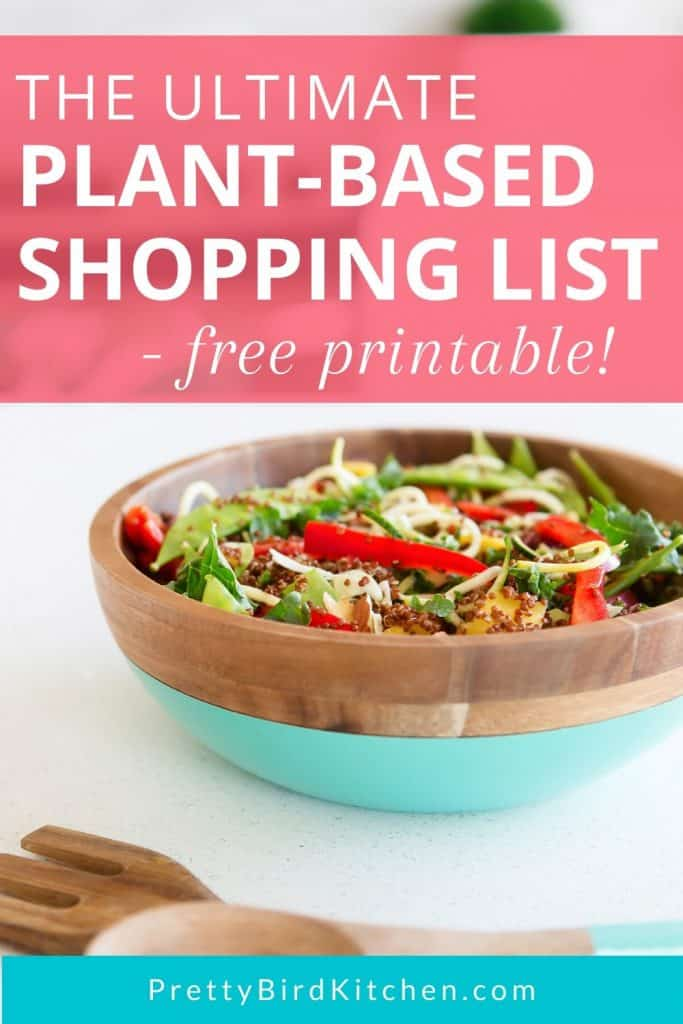 The ultimate plant-based shopping list free printable