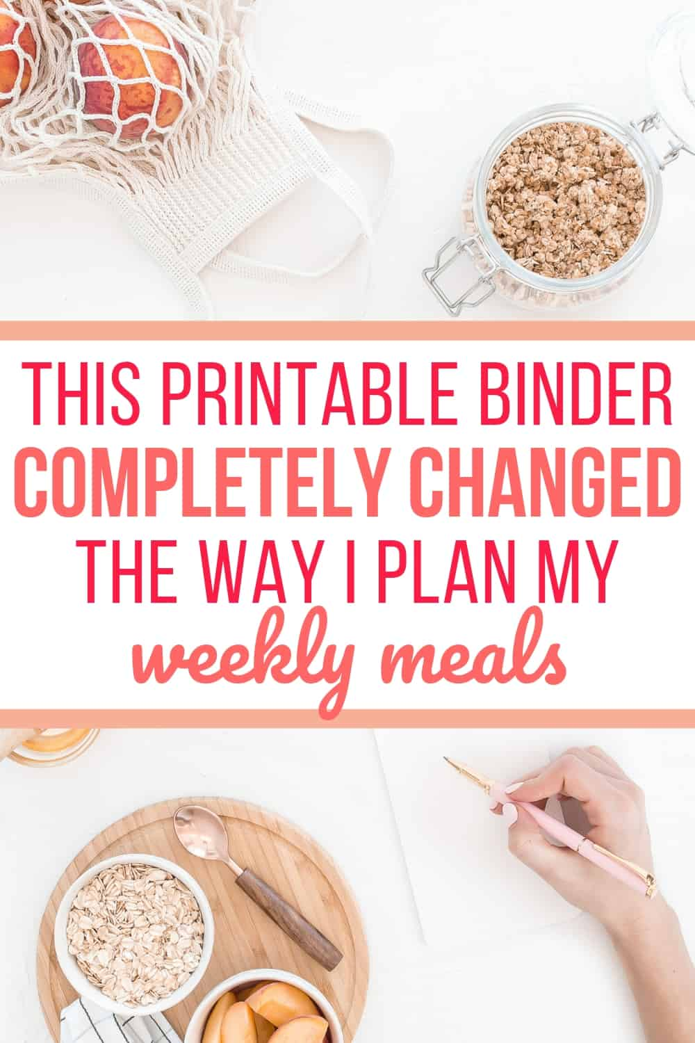 This printable binder changed how I plan meals