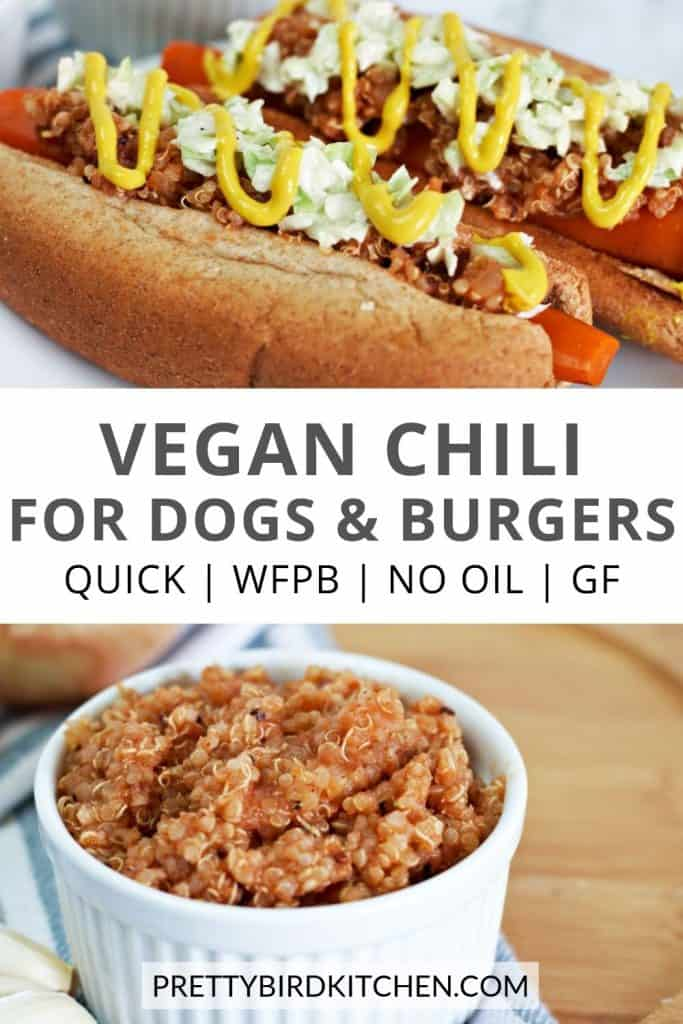 Vegan chili for dogs and burgers