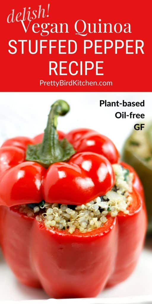 Vegan quinoa stuffed pepper recipe