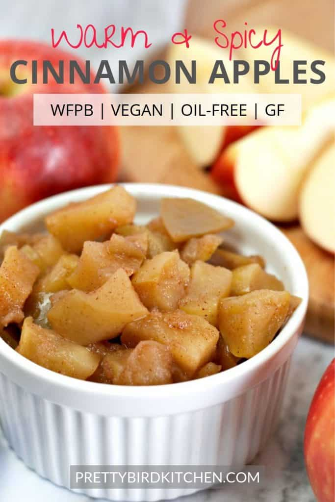 Warm and spicy cinnamon apples