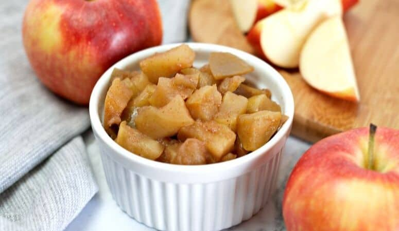 Warm and Spicy Stovetop Cinnamon Apples