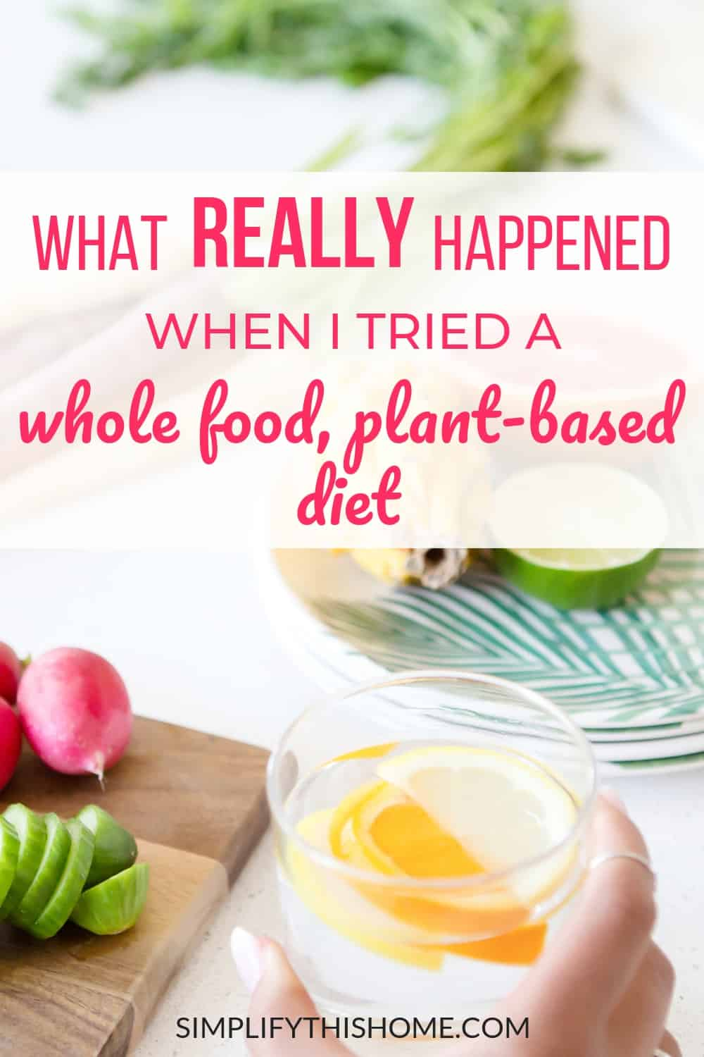 I tried a whole food, plant-based diet for a month to see what would happen. My results just might surprise you! And if my health improvements aren't impressive enough, wait until you see what happened to my husband when he went plant-based!