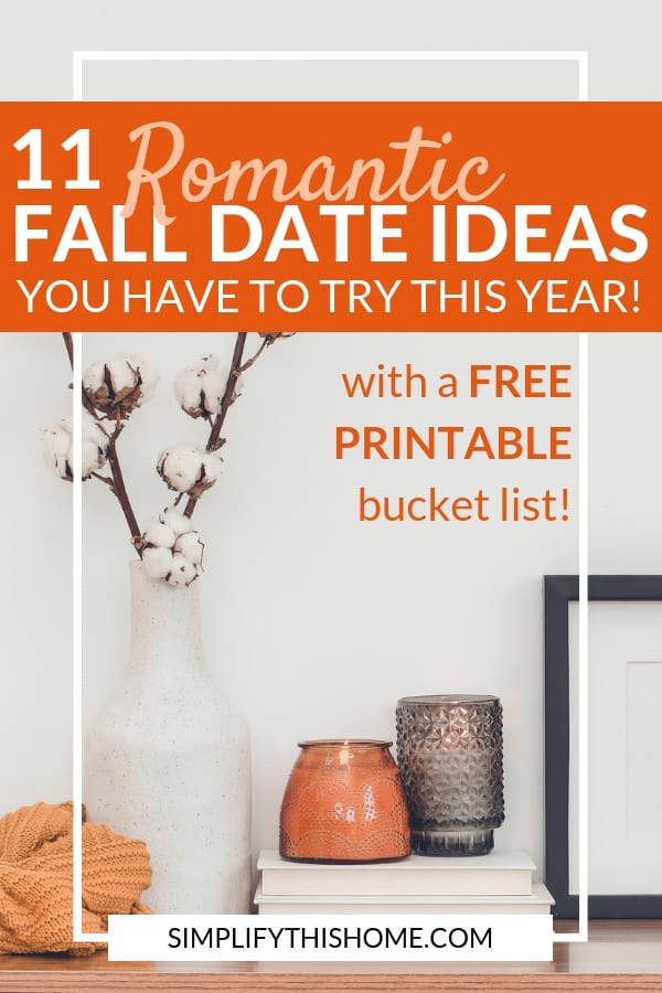 These fall date ideas are so romantic! I will definitely be trying these. And the best part is that there's a free printable fall bucket list so I can check them off as I go! | fall activities for couples