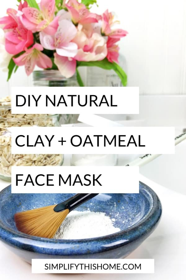 Natural clay and oatmeal face mask