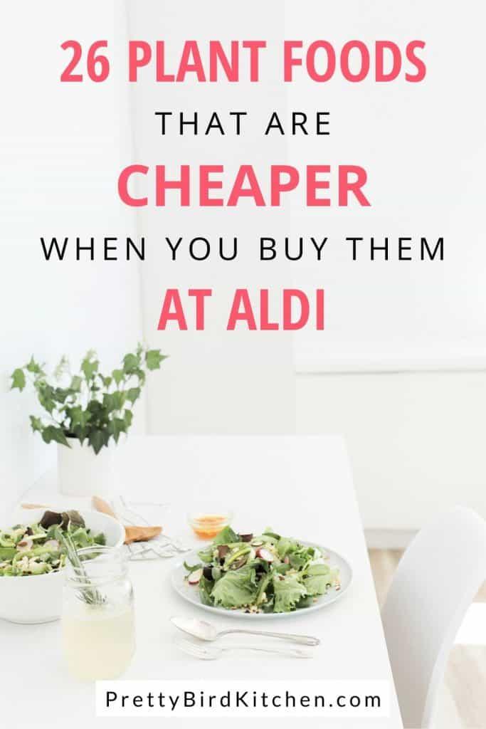 plant foods that are cheaper at Aldi