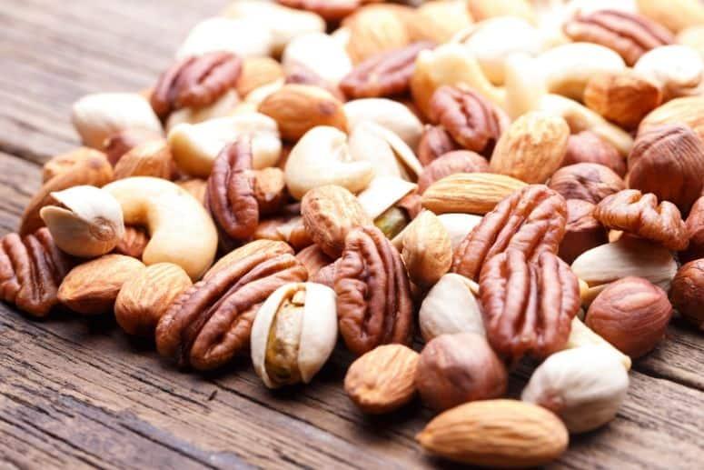 shelf items like nuts and seeds