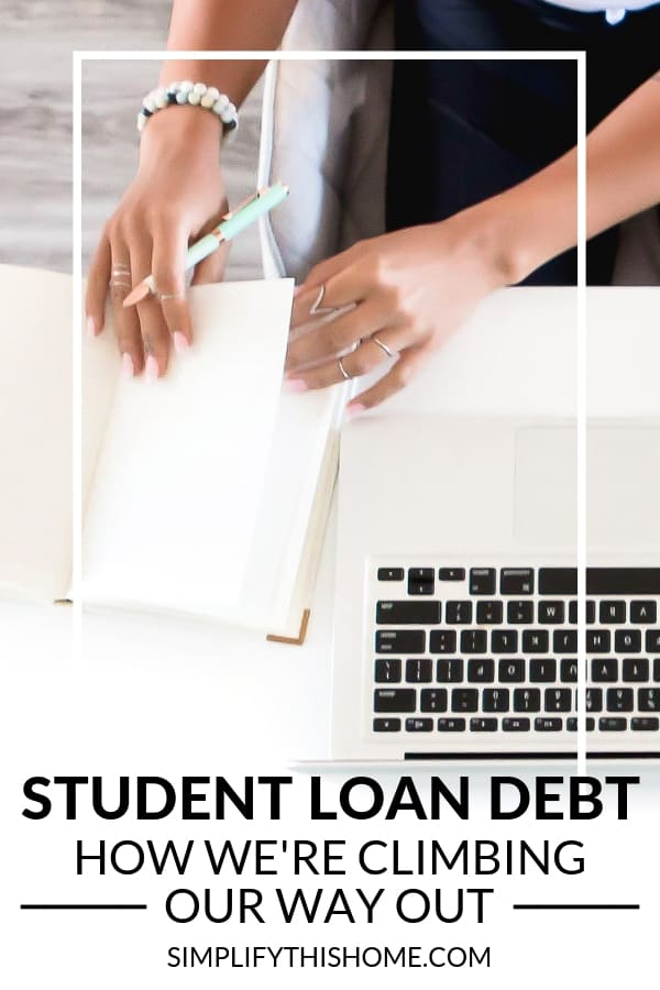 How we've paid back over $50,000 in student loan debt on one income! | how to pay off debt | student loans